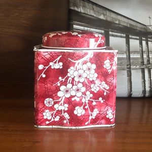 Vintage Cherry Blossom Lidded Tin Made in England